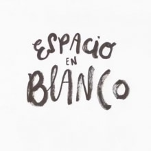 Espacio en blanco. A Design, Film, Video, TV, Animation, Art Direction, Curation, T, pograph, and Calligraph project by Flaminguettes - 11.01.2013
