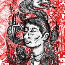 Litografía de la serie Embrujados. A Illustration, Crafts, Fine Art, and Collage project by Zoveck Estudio - 09.04.2016