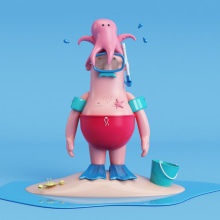 Mr Antonio. A Design, 3D, and Character Design project by alicamo - 09.13.2017