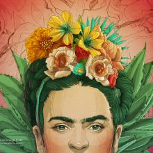 Los amores de Frida. A Illustration project by Tavo Montañez - 09.15.2017