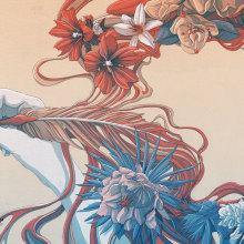 La pluma es femenina. A Illustration project by Tavo Montañez - 09.15.2017