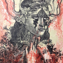 Regeneración. Proceso de collagrafía e impresión. A Illustration, Crafts, Fine Art, and Collage project by Zoveck Estudio - 09.20.2017