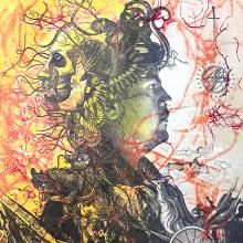 El carro. Collagrafía proceso. A Illustration, Crafts, Fine Art, and Collage project by Zoveck Estudio - 09.21.2017