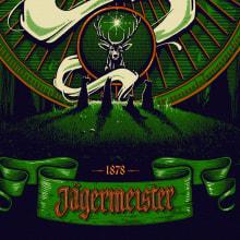 Jägermeister. A Illustration und Siebdruck project by Panco Sassano - 14.04.2017