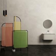 MOVO. Biombo para espacio de baño.. Un proyecto de Diseño, 3D, Diseño de muebles, Diseño industrial, Arquitectura interior y Diseño de producto de Pablo Lardón - 27.09.2017