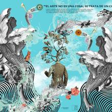 Arte ABC. A Illustration, Art Direction, Fine Art, Graphic Design, and Collage project by Zoveck Estudio - 08.02.2017