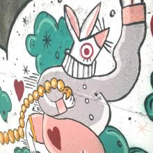 """Mural """"Nunca es demasiado tarde"""" para Parees Fest Oviedo. A Illustration, Bildende Künste, Malerei und Urban Art project by Luc Bueno Gléz - 15.10.2017"""