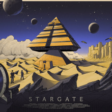 Stargate. A Graphic Design, Illustration, and Screen-printing project by Cristian Eres - 10.19.2017