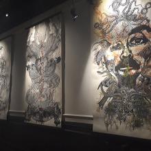Collografías en gran formato. Exhibición en Centro Panteón. Mexico . A Art Direction, Crafts, Fine Art, Set Design, and Collage project by Zoveck Estudio - 10.21.2017