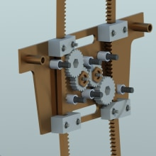 Mecanismo Elevador de Vidrios Blindados. A 3D, Animation & Industrial Design project by Jose Rafael Farfan Fernandez - 02.23.2016