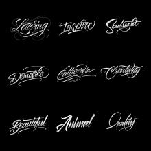 Colección de Lettering con Procreate. A Kalligrafie und Lettering project by Daniel Hosoya - 27.10.2017
