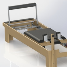 Pilates Reformer. A Design, 3D, Animation, Furniture Design, Industrial Design, Product Design, and Video project by Jose Rafael Farfan Fernandez - 03.28.2015