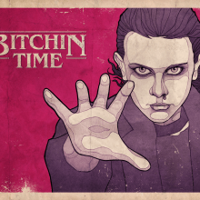 Stranger Things 2 poster - Bitchin. A Illustration und Grafikdesign project by Rubén Megido - 18.11.2017