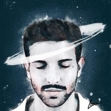 Mi Proyecto del curso: Retrato ilustrado con Photoshop de Pablo Alborán. A Illustration project by Marina M. - 19.11.2017