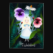 Alice in Wonderland. A Illustration, and Editorial Design project by Lorena Sánchez Román - 11.28.2017