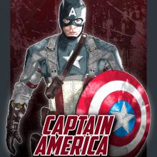 Mi Proyecto del curso: Del dibujo a lápiz a la ilustración digital   Captain America. Un proyecto de Ilustración y Diseño gráfico de Nicolás Romero - 28.11.2017