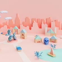 My little world. A 3-D, Kunstleitung, Grafikdesign, Spielzeugdesign und Stop Motion project by Ana Porta - 01.12.2017