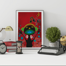 Basquiat reinterpretado. Un proyecto de Diseño, Ilustración, Diseño gráfico e Ilustración vectorial de Diego Checa - 21.12.2017