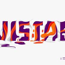 Cabezal Revista Vistar . Un proyecto de Diseño, Ilustración, Publicidad, Dirección de arte, Bellas Artes, Diseño gráfico, Tipografía, Escritura, Caligrafía, Lettering e Ilustración vectorial de Maikel Martínez Pupo - 28.12.2017