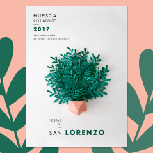 San Lorenzo - Craft Poster. Um projeto de Ilustração, Fotografia, Direção de arte, Artesanato, Eventos, Design gráfico e Papercraft de Inés Marco Aguilar - 10.08.2017