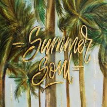 Summer soul. Um projeto de Design, Ilustração, Pintura, Tipografia e Lettering de Jacqueline Murrieta - 17.01.2018