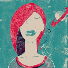 """Ejercicio con separación de tintas y texturas, mi canción """"Blue lips"""" de Regina Spektor. encuentro el ejercicio muy interesante y con grandes posibilidades. El resto de los proyectos los encuentro realmente inspiradores. Yo hice algo muy sencillito.... . Un proyecto de Ilustración de Iana perez nollet - 18.01.2018"""