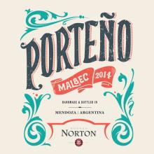 Porteño de Bodega Norton para Exportación. A Illustration, Packaging, Street Art, and Lettering project by Diego Giaccone - 01.24.2018