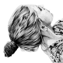 Alba. Bolígrafo BIC negro. Um projeto de Ilustração e Artes plásticas de Elena Struch - 30.01.2018