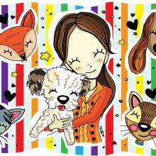 Custom illustration - Friends. Un proyecto de Ilustración de Noe Tihista - 07.02.2018