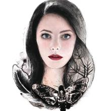 Mi Proyecto del curso: Retrato ilustrado en acuarela. Kaya Scodelario.. Um projeto de Ilustração, Artes plásticas, Pintura e Retoque fotográfico de Rednieh - 07.02.2018