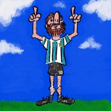 Messi. Un proyecto de Ilustración de Lucas Cosenza - 10.10.2017
