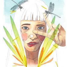 Mi Proyecto del curso: Retrato ilustrado en acuarela. Un proyecto de Ilustración, Pintura y Retoque fotográfico de Clara Penín - 14.02.2018