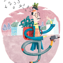 Albert Pinilla - Ilustración para la revista Namaka . Un proyecto de Diseño editorial e Ilustración de Albert Pinilla Ilustrador - 16.02.2018