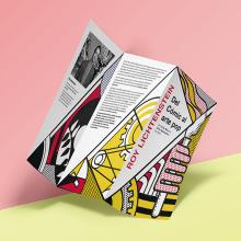 Tríptico Roy Lichtenstein. Un proyecto de Ilustración, Diseño editorial, Diseño gráfico, Cómic e Ilustración vectorial de Antonio Dos Santos Pereira - 21.02.2018