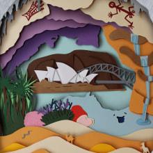 Australia. Un proyecto de Diseño, Ilustración, Dirección de arte, Artesanía, Diseño editorial, Diseño gráfico y Papercraft de Antonio Dos Santos Pereira - 21.02.2018