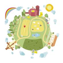 Granjamundi. Un proyecto de Ilustración e Ilustración vectorial de Antonio Dos Santos Pereira - 21.02.2018