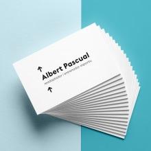 Albert Pascual. Un proyecto de Br, ing e Identidad, Diseño gráfico y Tipografía de Jennifer Moreno Espelt - 28.02.2018