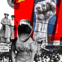 Cartel para el Día Internacional de las Mujeres 2018. Un proyecto de Collage y Diseño gráfico de Nuriet García - 08.03.2018