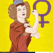 Dama de Elche - 8 de Marzo. Un proyecto de Diseño, Ilustración, Educación, Bellas Artes y Cómic de Alejandro Fuentes Alonso - 08.03.2018