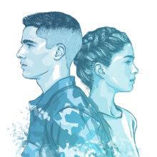 AldoBrando ed EliAdele • Book Cover Illustration. A Illustration project by Alessandra Stanga - 12.03.2018