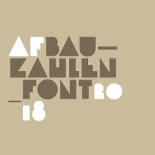 Bauzahlen Font. Un proyecto de Diseño gráfico y Tipografía de Miguel Ángel Hernández - 04.03.2018
