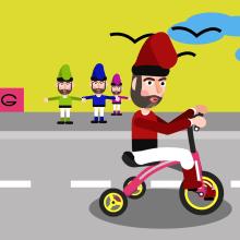 Duende Ciclista - Mi Proyecto del curso: Animación y diseño de personajes en After Effects - by www.marcmultimedia.com. A Animation von Figuren project by Marc Multimèdia - 20.03.2018
