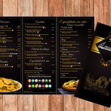 Menú Restaurante El Encuentro. Um projeto de Fotografia, Design editorial e Design gráfico de Jose Nieto Villalba - 10.01.2018