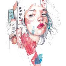 Mi Proyecto del curso: Retrato ilustrado en acuarela. Un proyecto de Ilustración de Amalia Torres - 23.03.2018