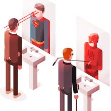 IN THE MIRROR. Un proyecto de Ilustración e Ilustración vectorial de Ricardo Polo López - 26.03.2018