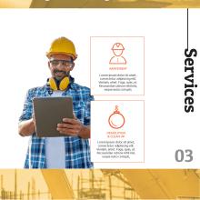 Sitio web - Empresa de construcción. A Design, UI / UX, Web Design, and Web Development project by Roberto Angulo - 03.29.2018