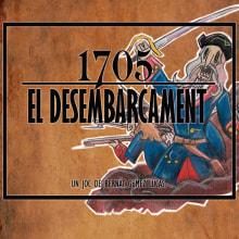 "boardgame ""1705: el desembarcament"". A Illustration, Character Design, Game Design, Graphic Design & Industrial Design project by Bernat GL - 09.10.2016"