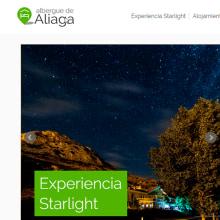 Diseño web para Albergue de Aliaga. Un proyecto de UI / UX, Diseño Web, Desarrollo Web y Redes Sociales de Sonia San José Campos - 01.11.2014