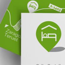 Diseño identidad corporativa para Albergue de Aliaga. Un proyecto de Diseño gráfico e Infografía de Sonia San José Campos - 01.07.2014