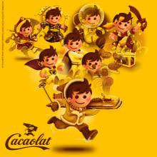 """Cacaolat Restyling de """"Pepi"""", personaje corporativo de Cacaolat. Un proyecto de Ilustración y Packaging de Juanma García Escobar - 05.04.2018"""